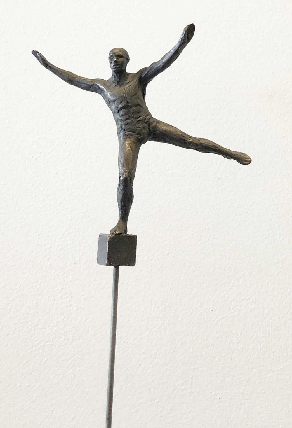 Bill Starke, Balance Series: Hand  Cast Bronze & Steel, 30x5.5 in.