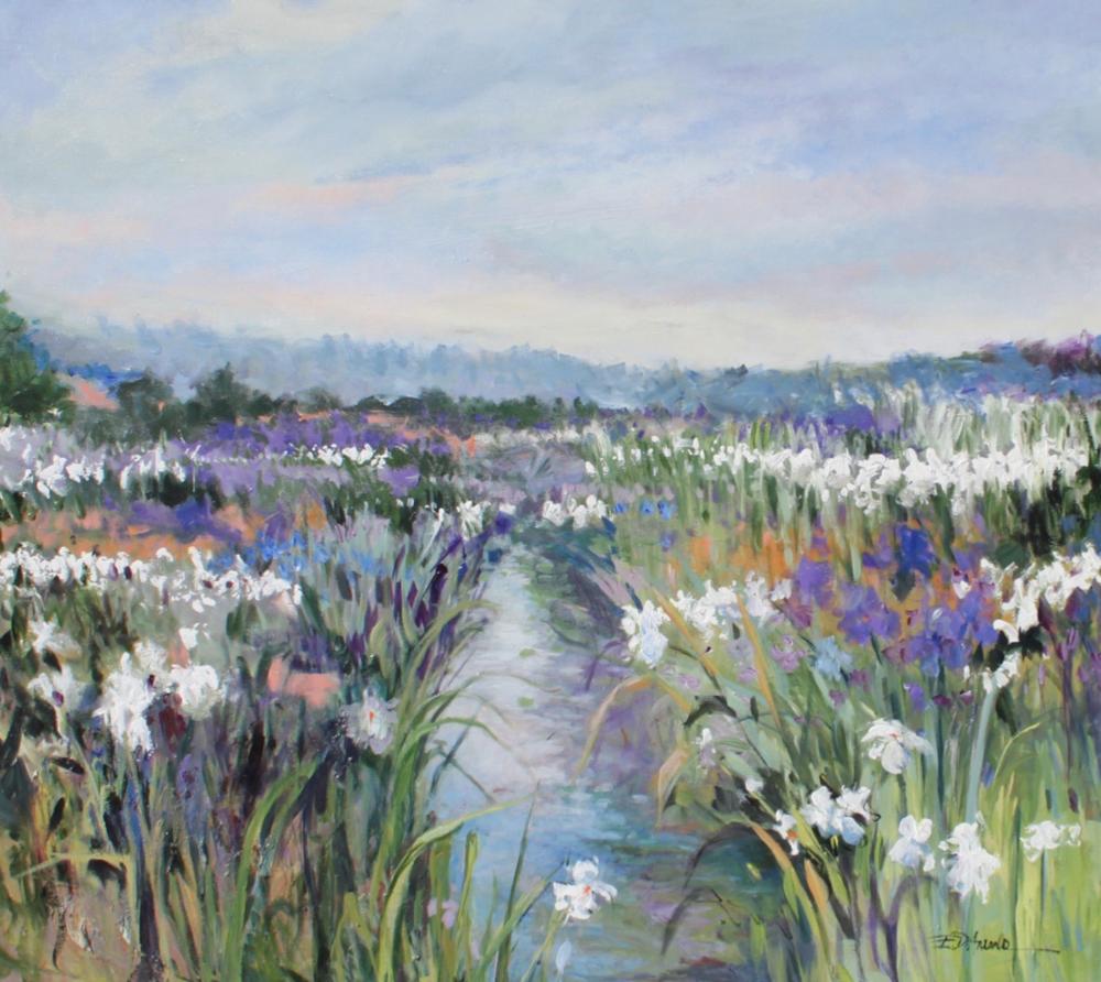 ELLEN DIAMOND, Wild Iris  Oil on Canvas, 45 in. x 50 in.