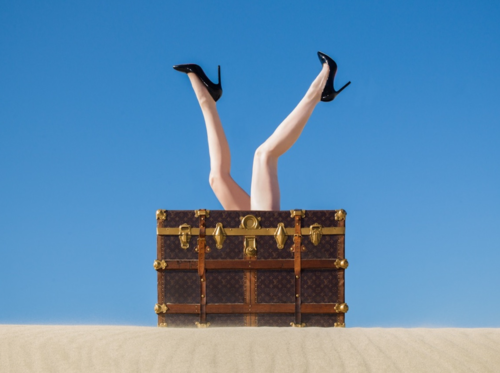 Tyler Shields, Louis Vuitton Trunk  Digital Chromogenic Print, 22.5x30 in