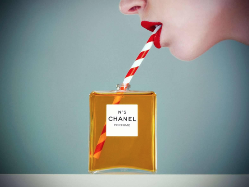 Tyler Shields, Chanel No. 5  Digital Chromogenic Print, 45x60 in.