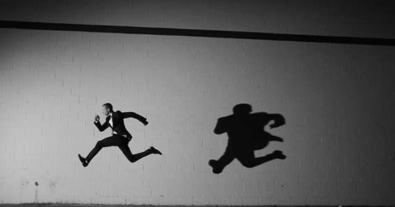 Tyler Shields, Shadow Run  Digital Chromogenic Print, 23x30 in.
