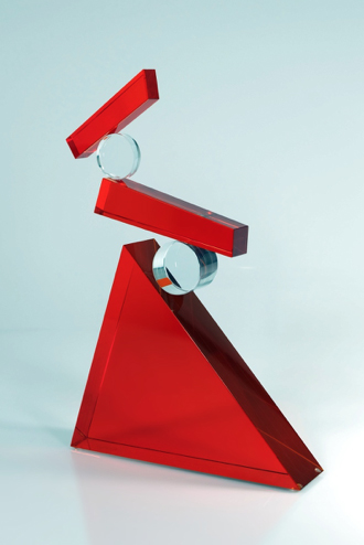 WITOLD SLIWINKSKI, Gravity  Glass and stainless steel, 10 in.
