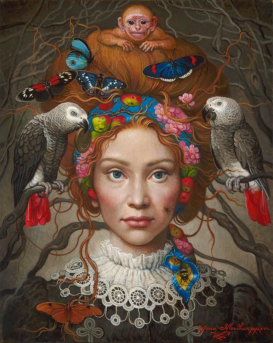 "YANA MOVCHAN, Ties of Life  Oil on canvas, 20"" x 16"""