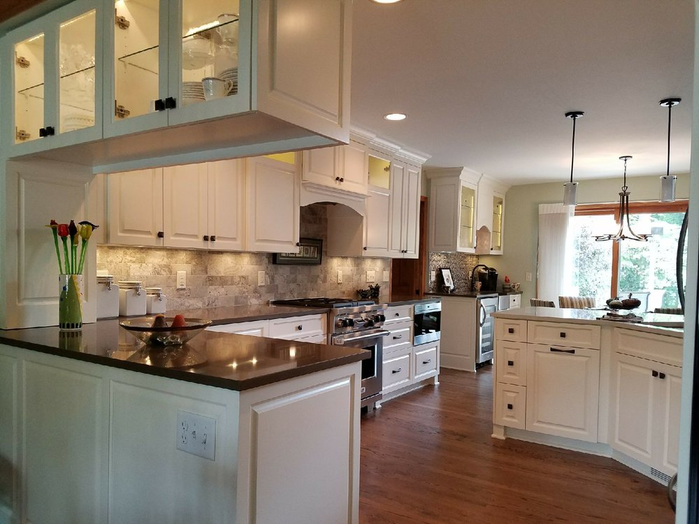 Custom Cabinetry - Perhaps you don't need a full kitchen remodel.  Maybe all you need is an update to the cabinets, surfaces and hardware. Reduce your investment in a remodel by simply updating the surfaces in a way that can change the look and feel of your kitchen.   Let's talk ideas.