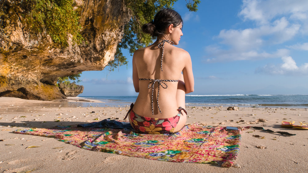 A beach day at Padang-Padang Beach in Bali