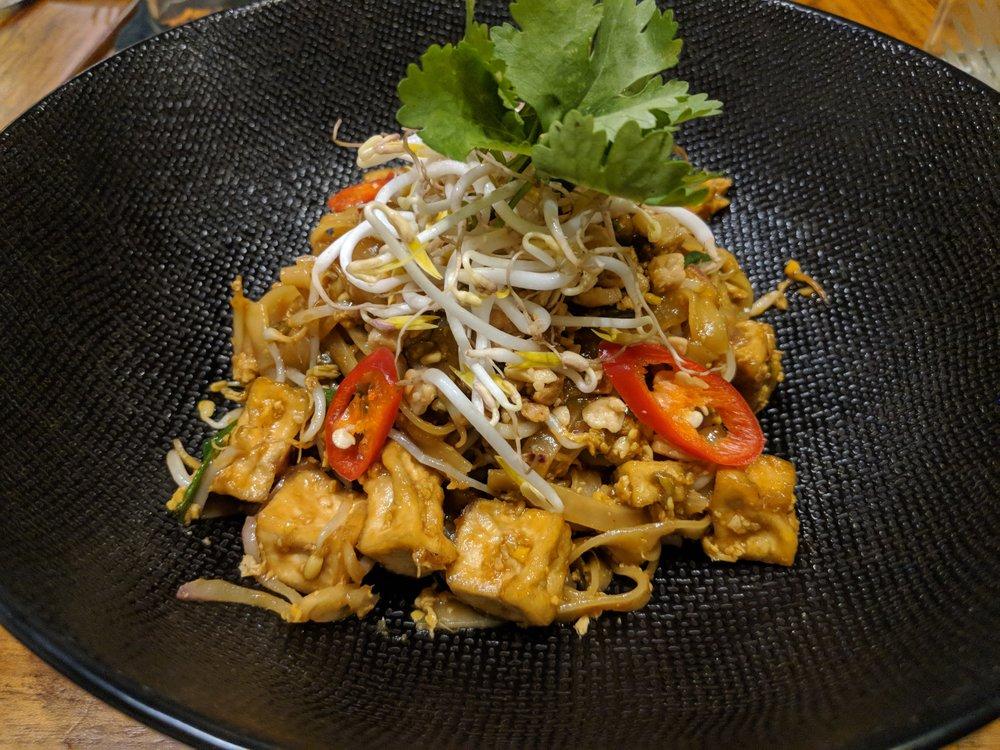 Pad Thai Noodles at Habitat Cafe