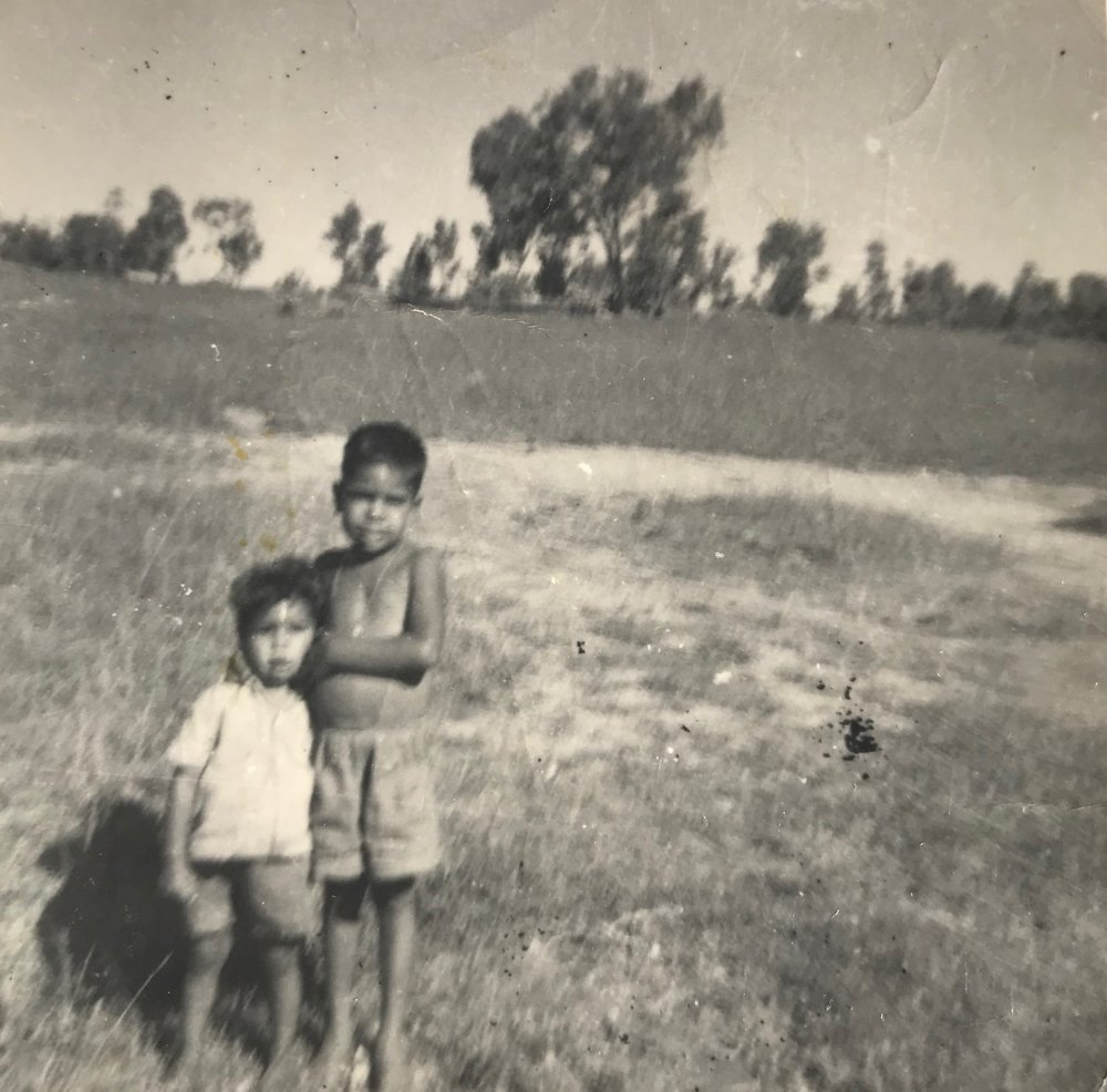 Trevor and Tony Connors, Goonoowigall camp circa 1950