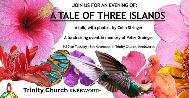 A tale of three islands ✨ Trinity Church, Knebworth, are holding a fundraising event in memory of Peter Grainger and in aid of PolyPeople 💕 Make sure to check our website for more details!