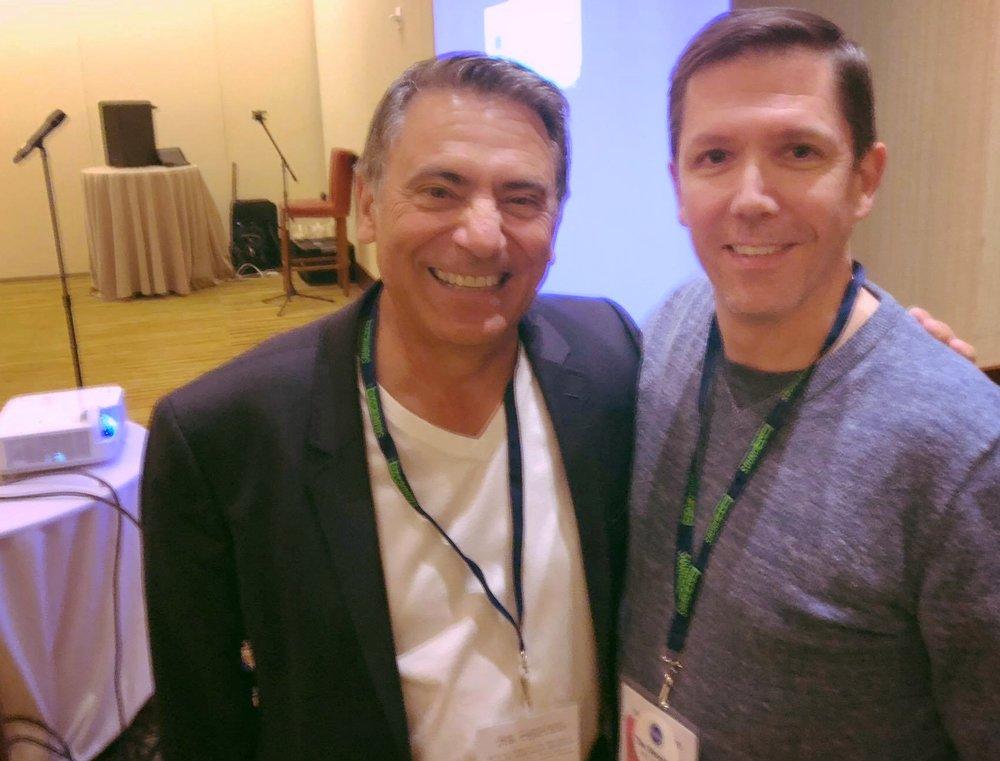 With Joe Cipriano.