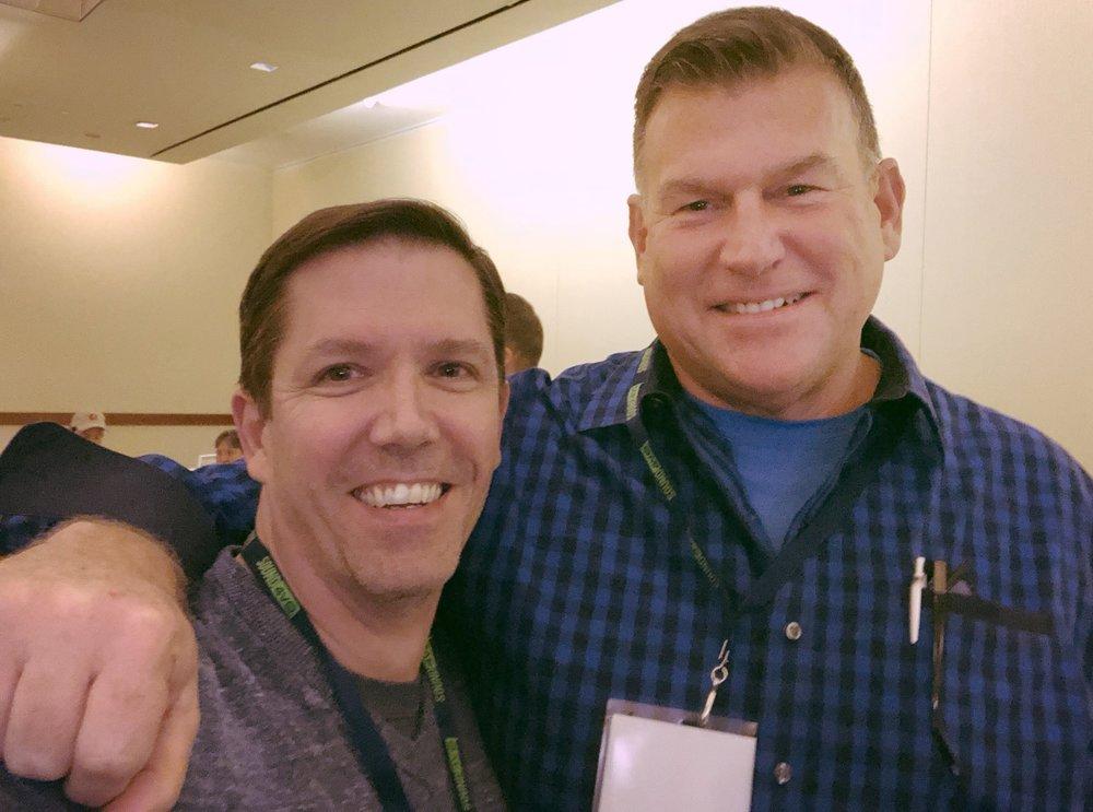 With Brad Hyland.