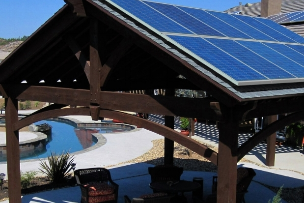 Dynamic Outdoor Spaces installs Solar Integrated Pavilions.