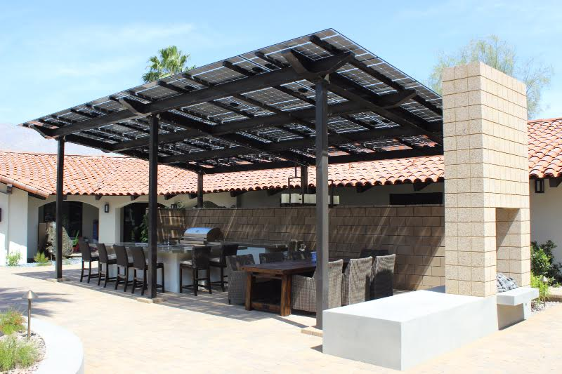 Dynamic Outdoor Spaces designs and installs solar shade structures.