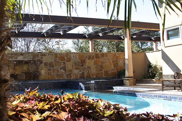 Dynamic OutdoorSpaces designs and installs unique solar shade structures.