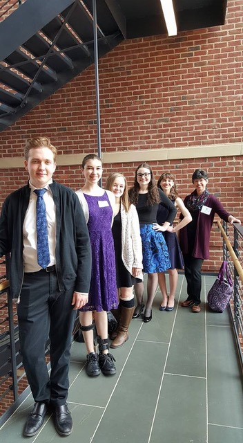 Parker Waters  (front), 2nd place in both Musical Theater and Classical;  Vivian Lemons  (third from front)