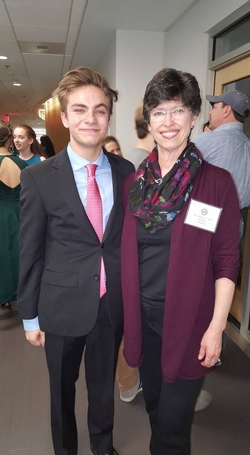 Maxwell Branciforte , 2nd Place Musical Theater (pictured here with Voice Teacher, Mrs. Nancy MacArthur Smith)