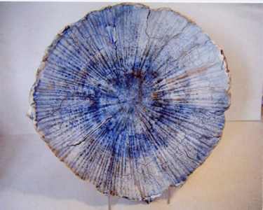 Blue Fissured Landscape Bowl