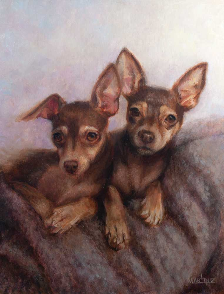 Ripley & SookieOriginal Oil on Linen Panel11x14 Inches - Sold - -