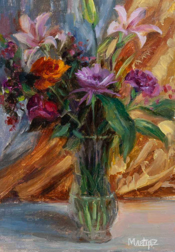 Study of A Floral TreatOil on Panel5x7 Inch -