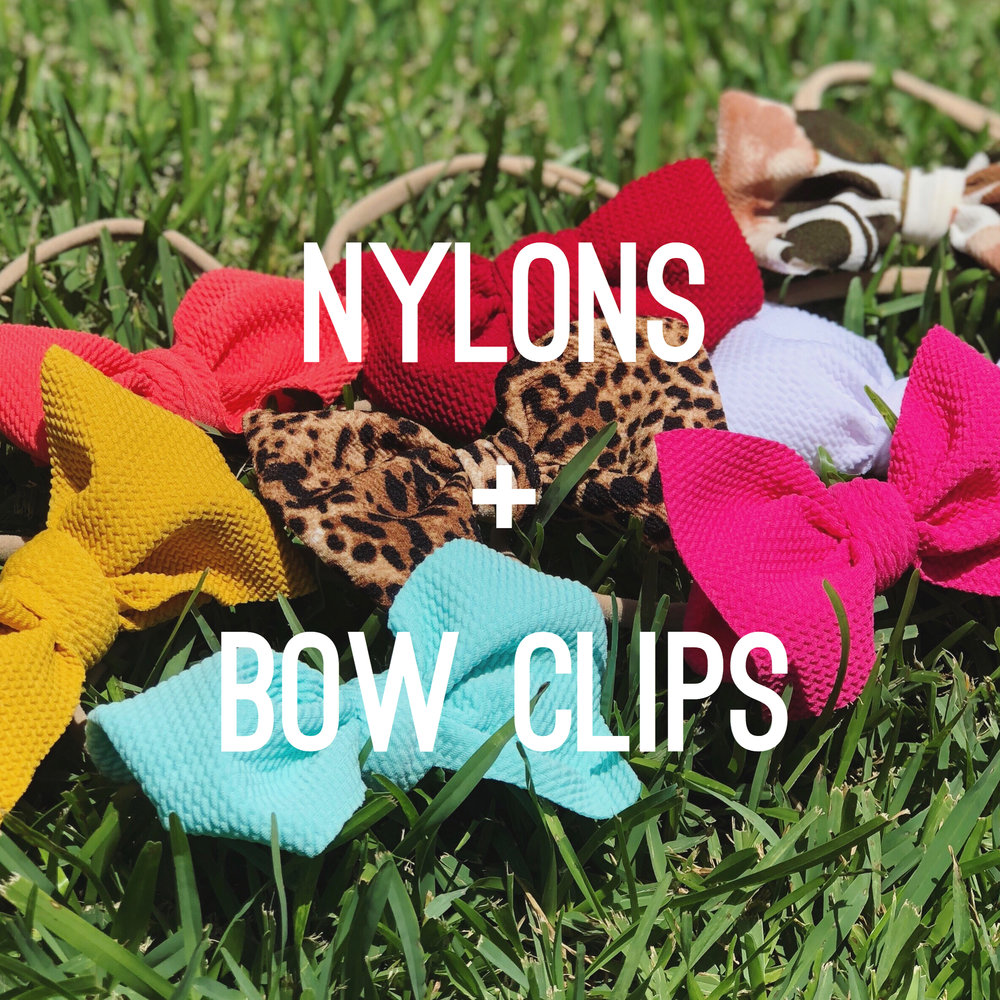 Nylons + Bow Clips