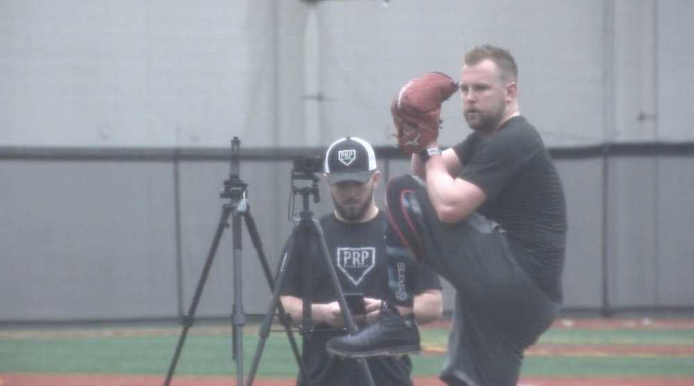 Drew Storen pitching with Rapsodo and Sony RX 100V
