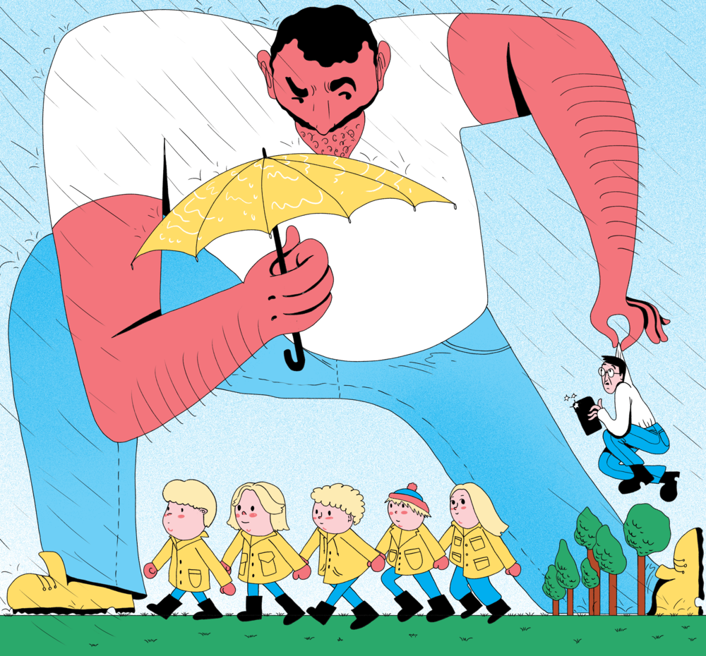 "How Does it Feel to Be a Male Kindergarten Teacher in Sweden? For ""Blazer"" Magazine."