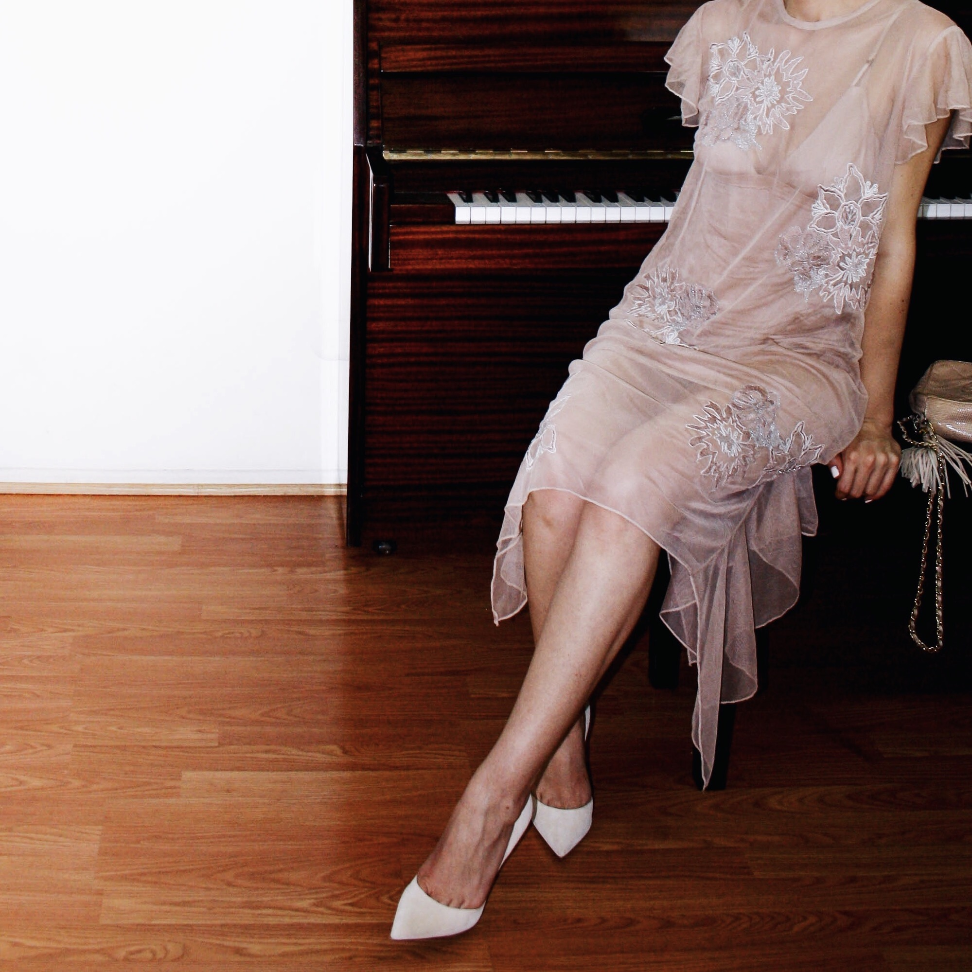 zara dress tulle naked dress embroidery chanel bag suede shoes giambattista valli 8