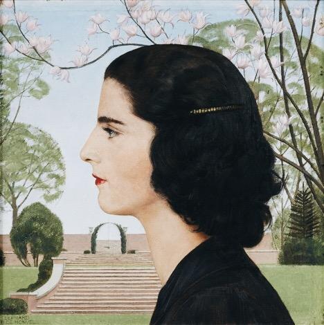 Bernard Boutet de Monvel -- Art Of The Day art deco mrs warren pershing painting portrait design architecture rectilinear style nature background