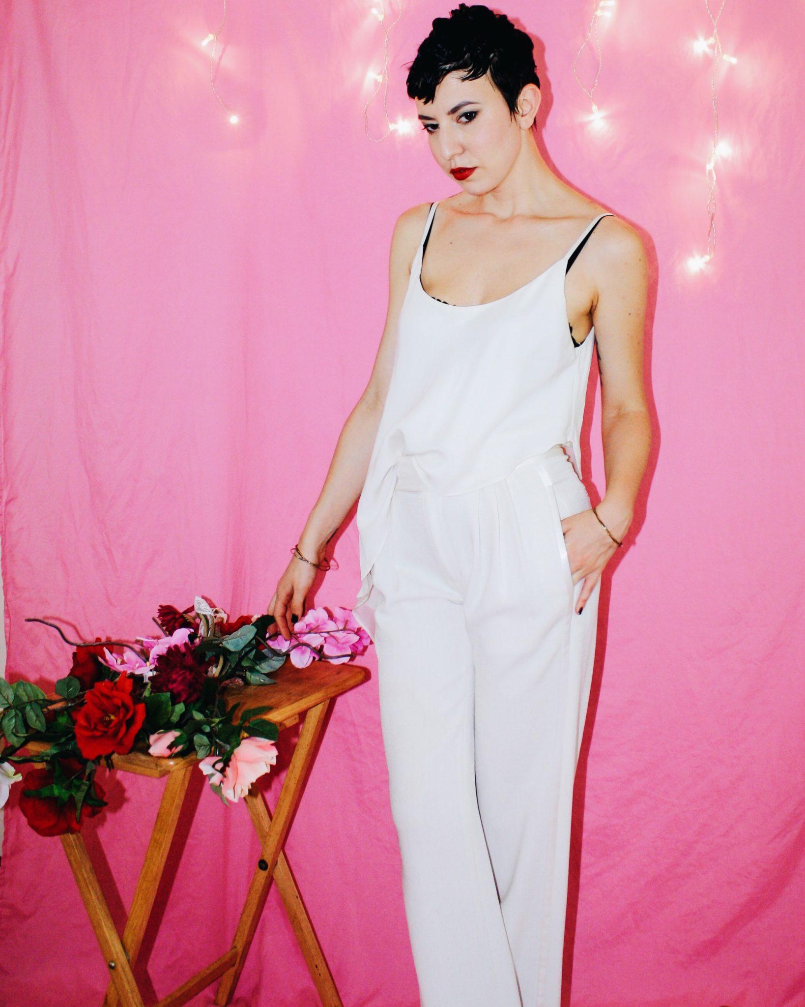 proenza schouler designer imitation white ruffle top spring summer 2018 2017 flowers pink 5