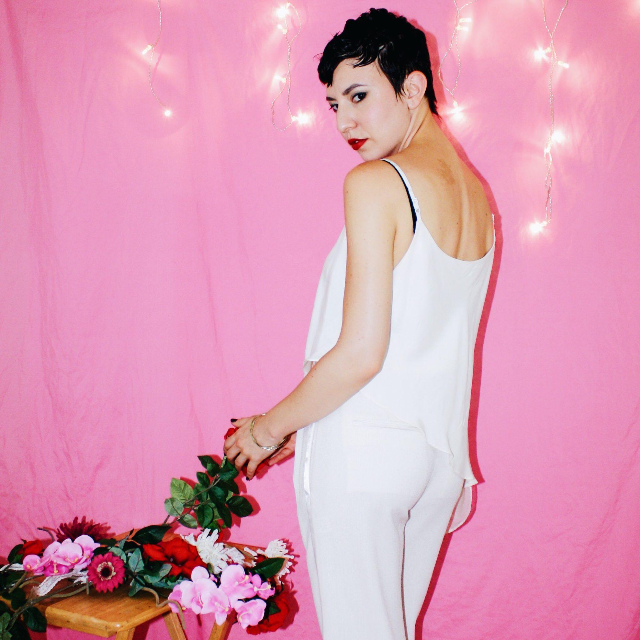 proenza schouler designer imitation white ruffle top spring summer 2018 2017 flowers pink 4