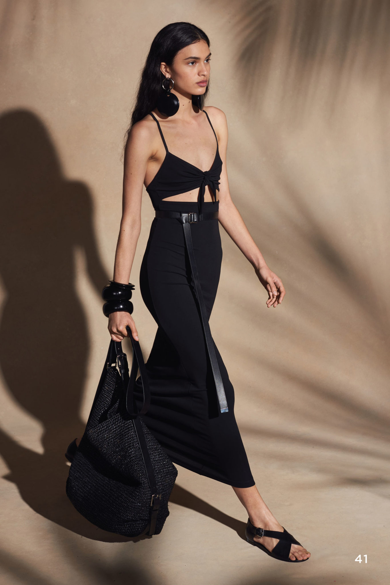 michael kors summer beach vibes all black resort 2018 long skirt crop top wraparound givenchy sandals leather 9
