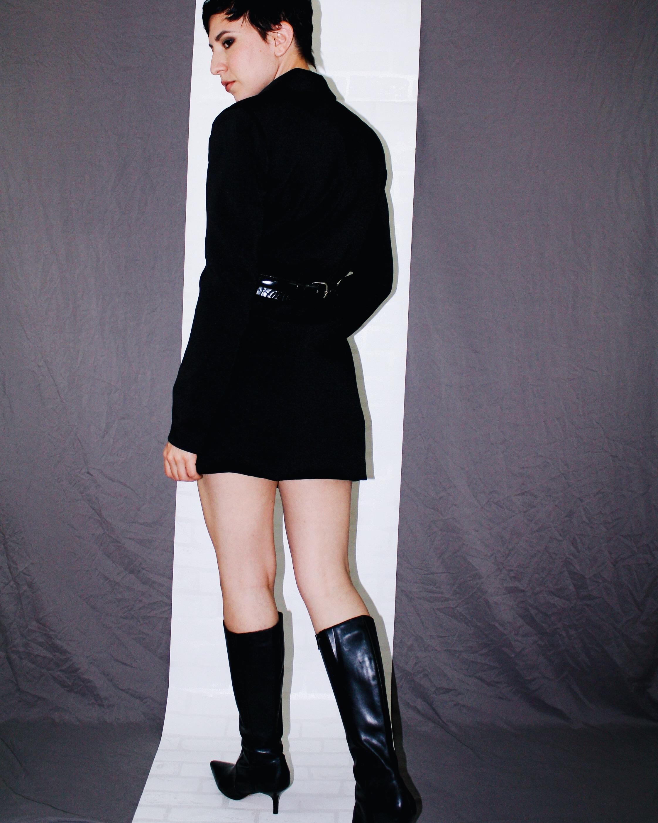 fall is here boots leather helmut lang blazer dress belts black