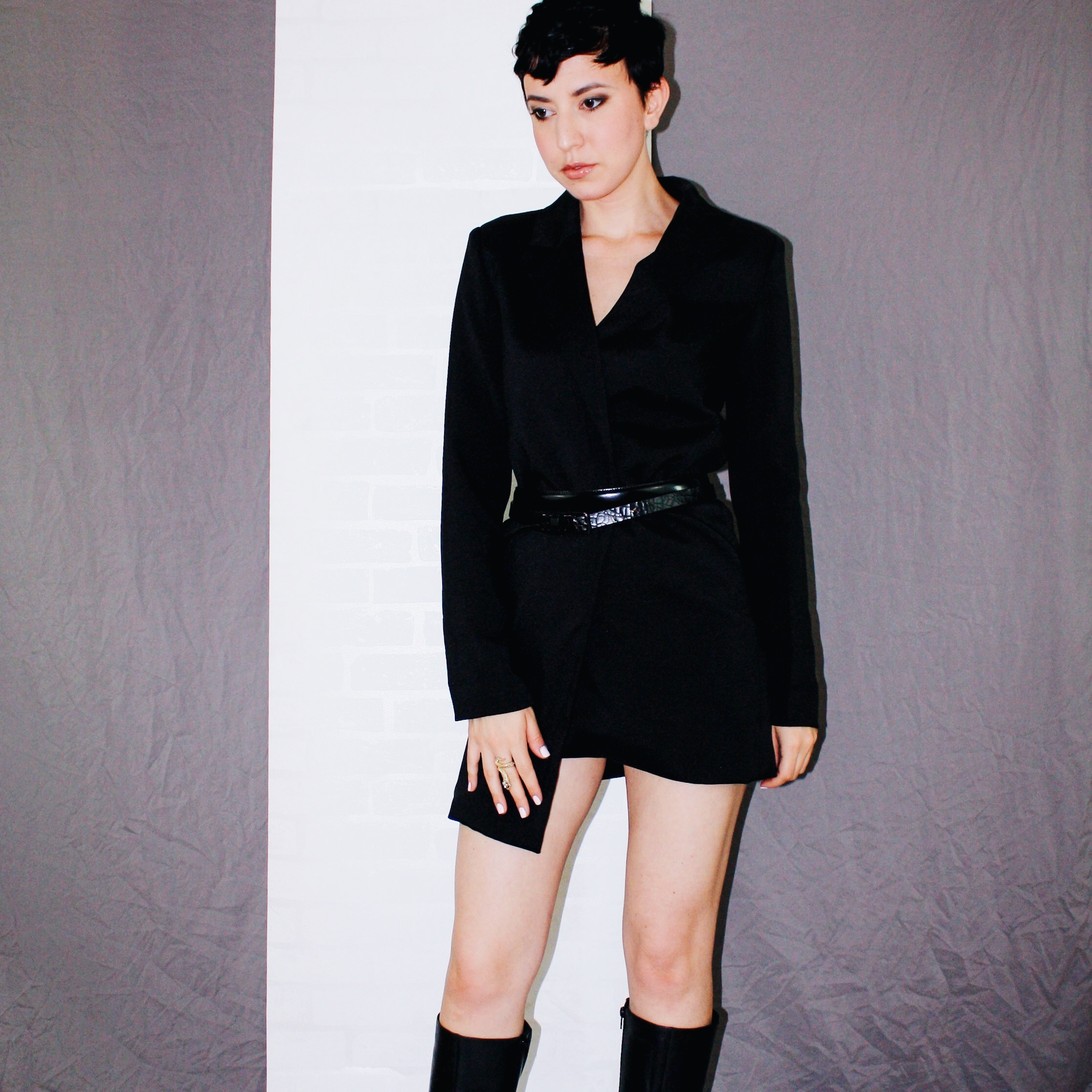 fall is here boots leather helmut lang blazer dress belts black 4