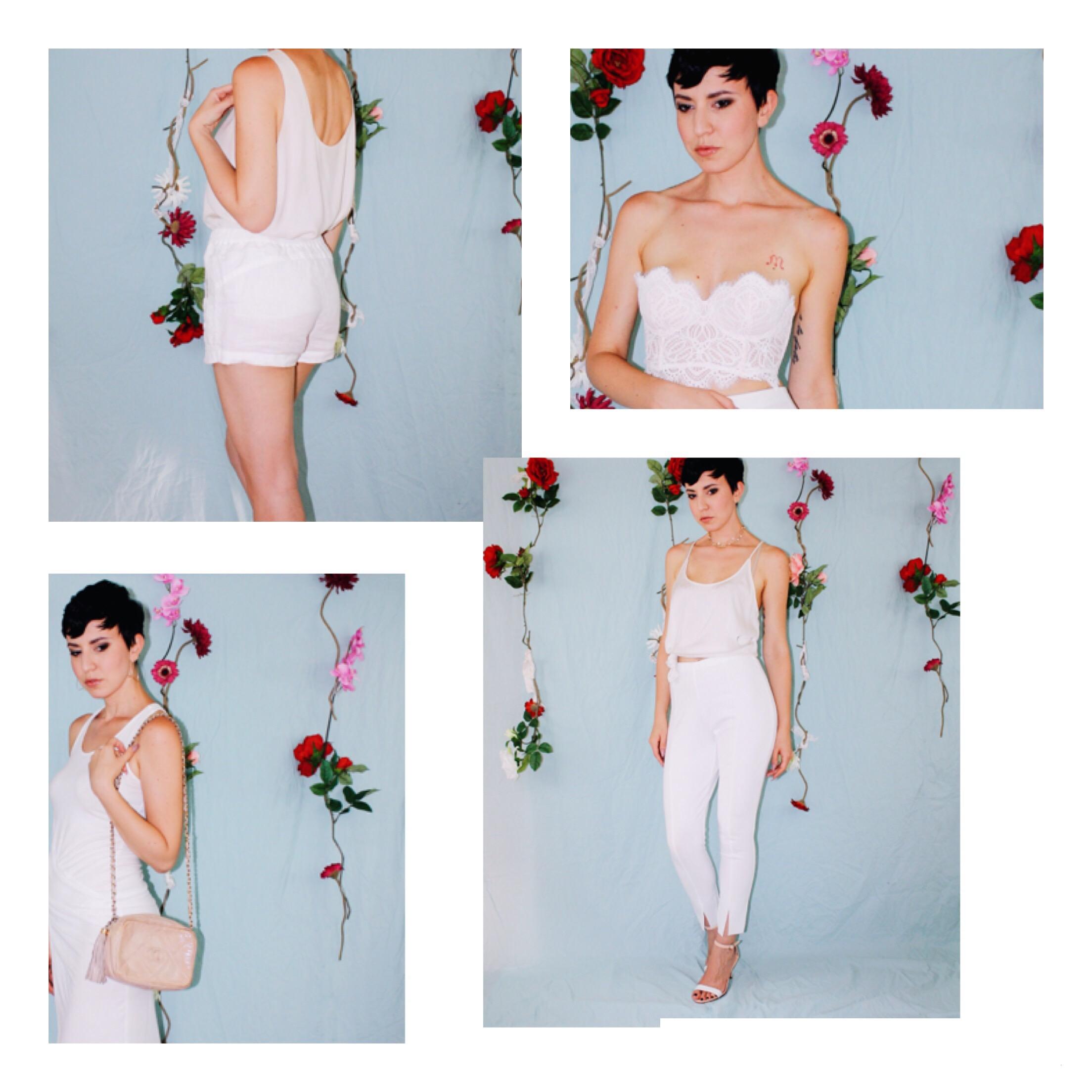 labor day outfit ideas white leggings silk tank lace boustier linen shorts dress 8