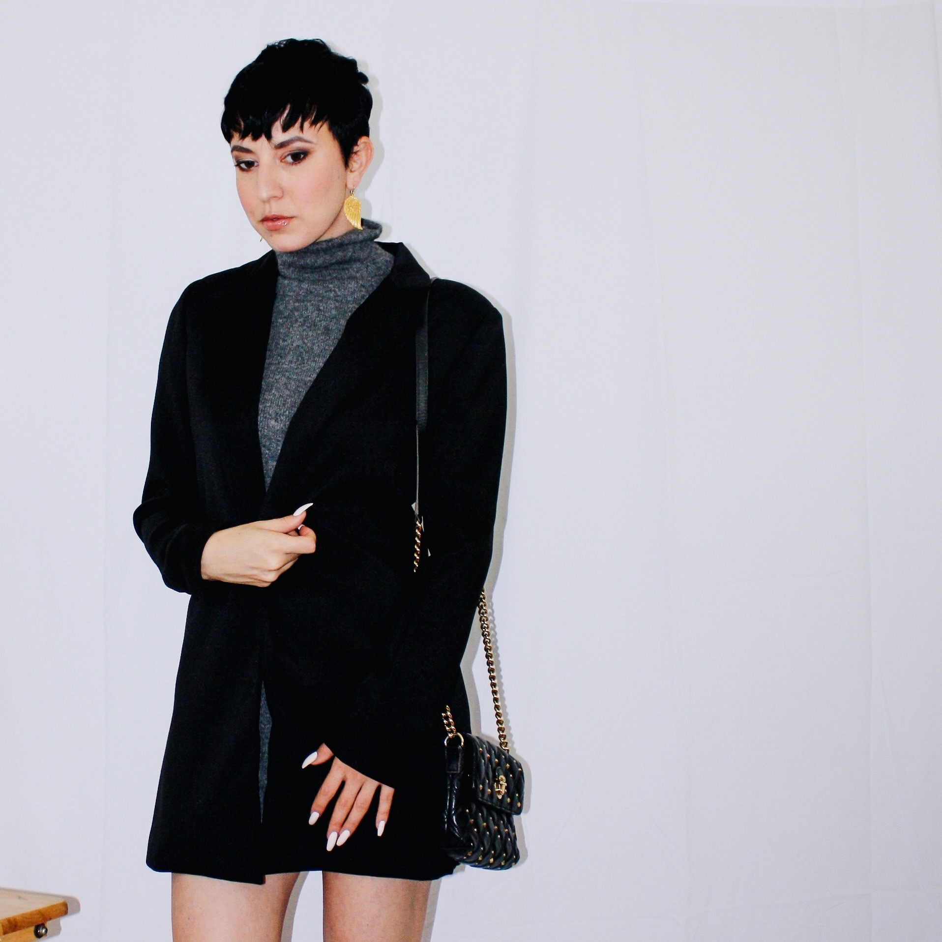 fall lookbook part one long blazer missguided sweater dress vince cashmere slingbacks dior gucci marc jacobs 2
