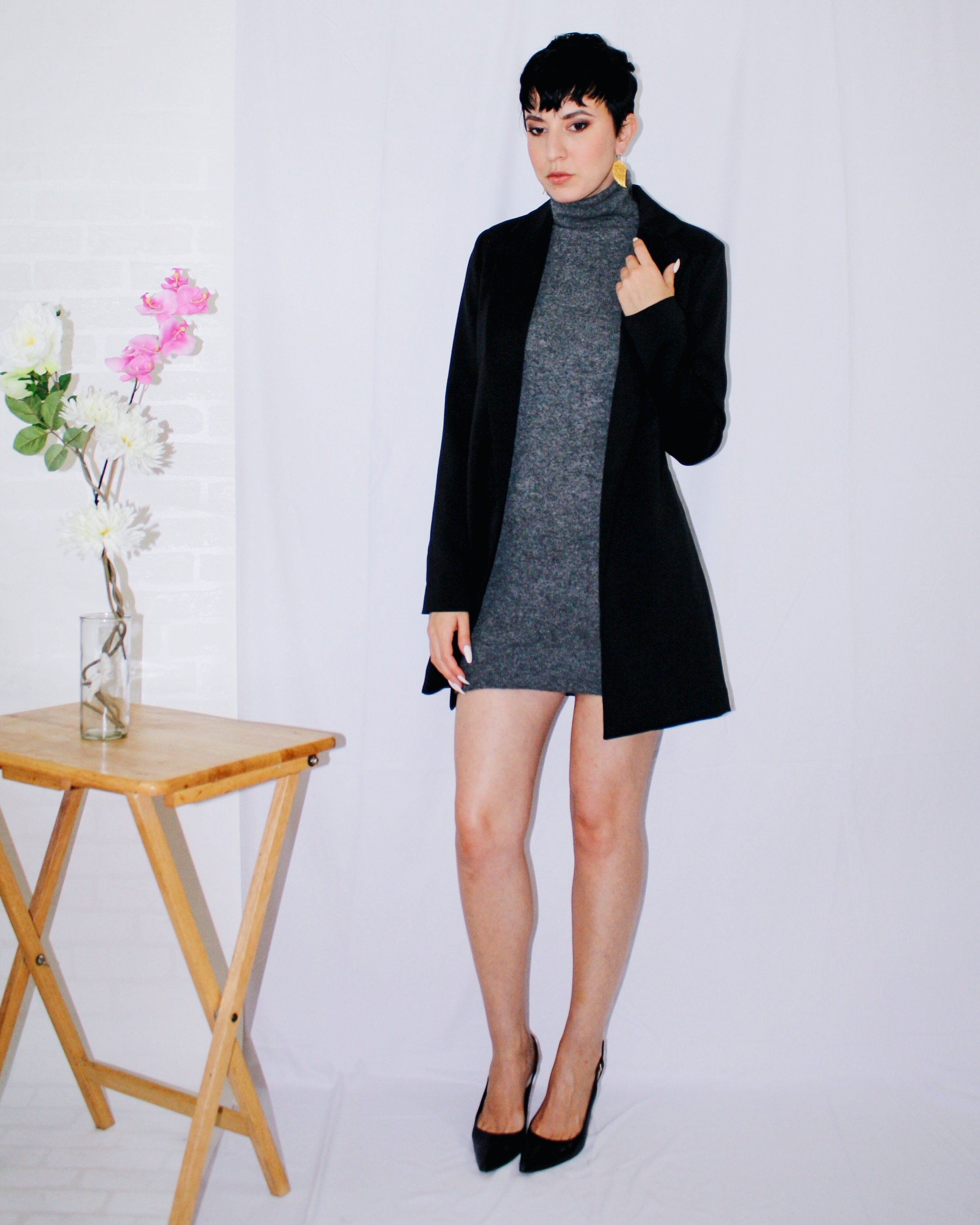 fall lookbook part one long blazer missguided sweater dress vince cashmere slingbacks dior gucci marc jacobs