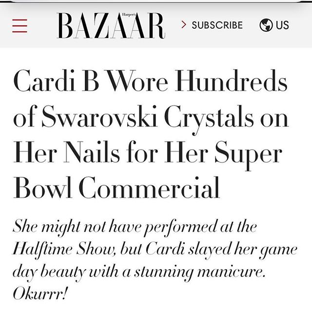 Thank you @harpersbazaarus to feature me and Cardi swipe to read ➡️➡️➡️➡️