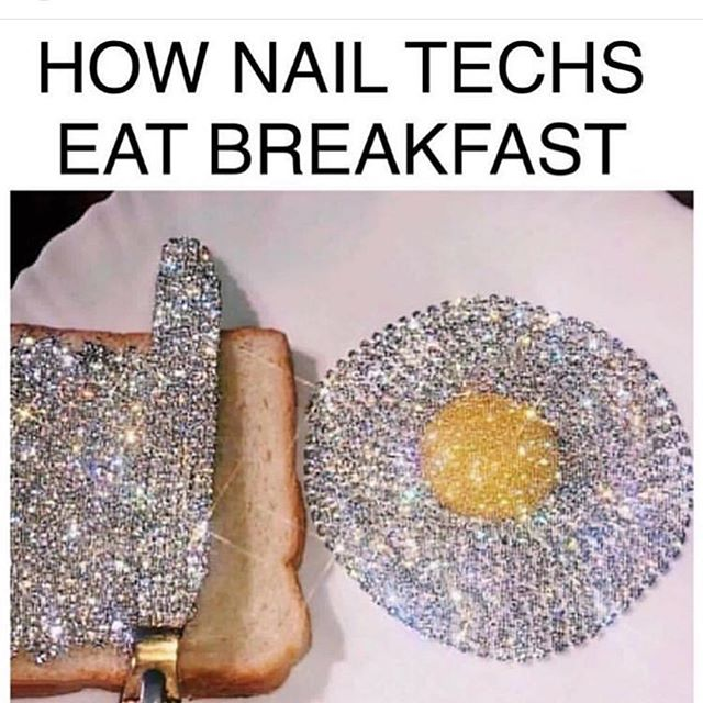My breakfast e day 🤣🤣 . Tag your nailstech