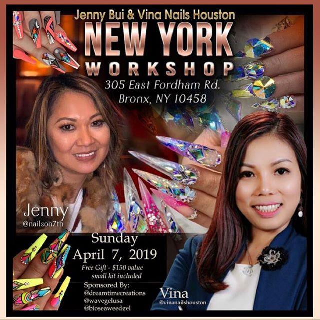 April workshop me and @vinanailshouston . Please for more information dm me please