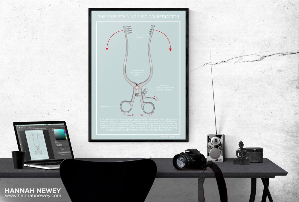 Surgical retractor poster and desk_Hannah Newey.jpeg