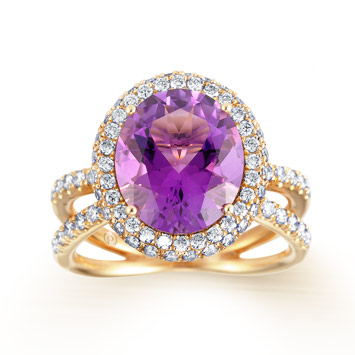 Blooming Amethyst Rose Gold Ring  partridgejewellers.com