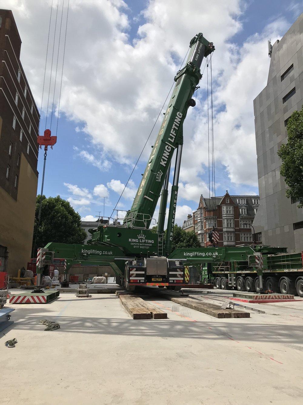 Crane and piling platforms