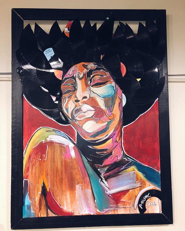 🎶🎶on the 12th day of February my Valentine gave to me... one beautiful original @mosal_da_artist Nina Simone 💿📀 #14daysofvalentines