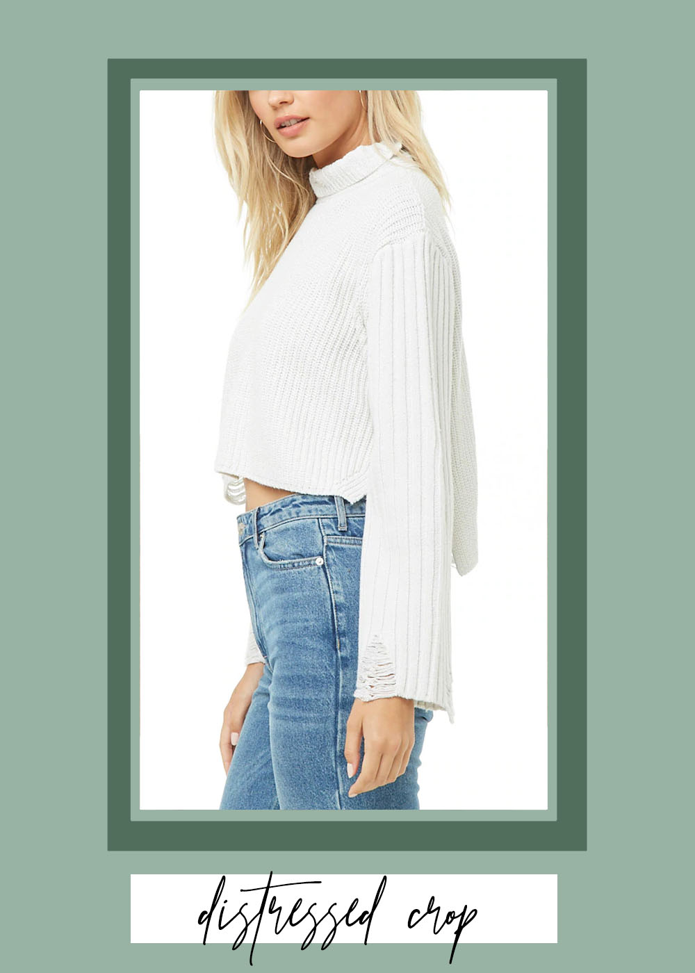 006. - DISTRESSED RIBBED SWEATERForever 21 // $38