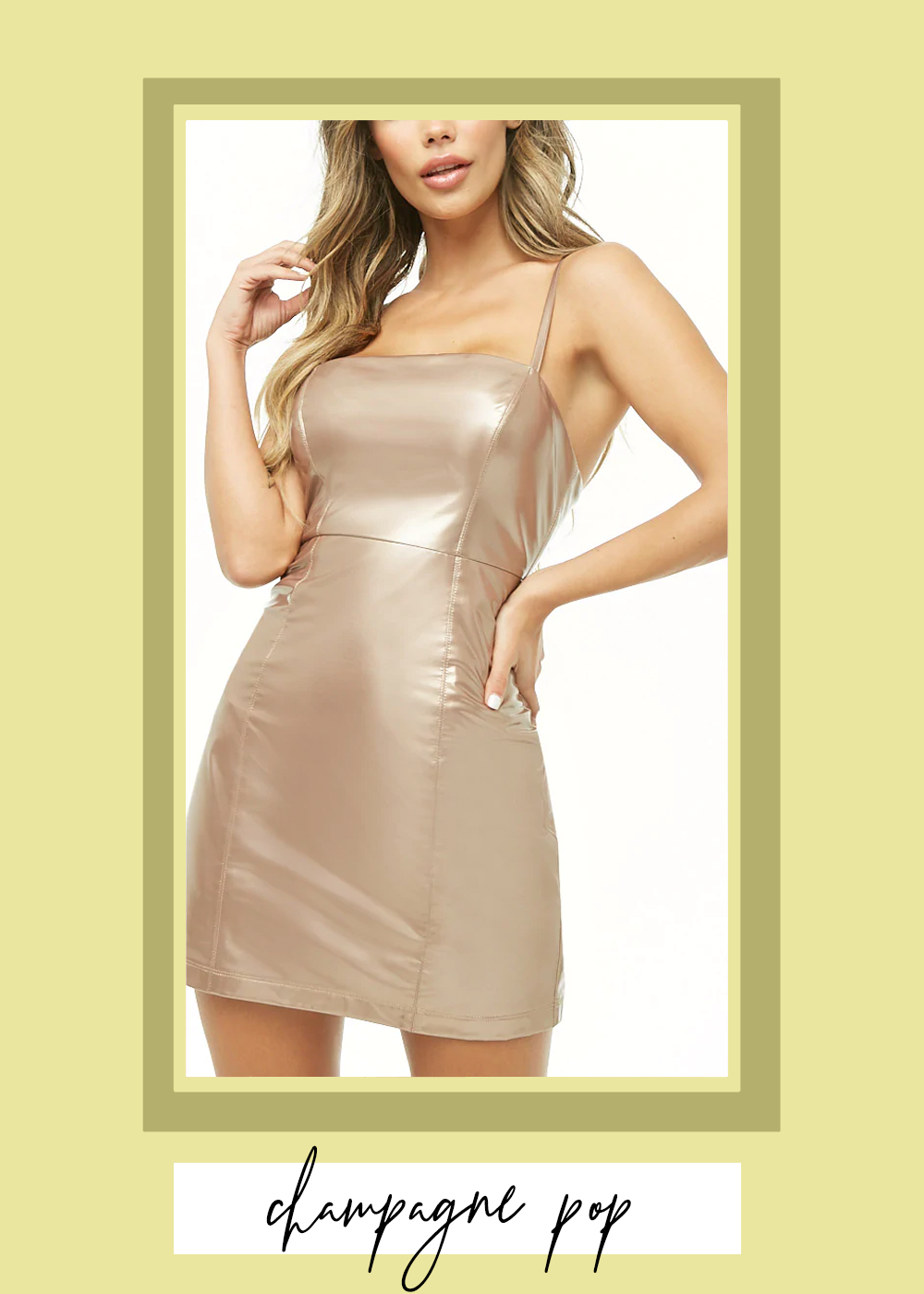006. - Metallic Faux Patent Leather Mini DressForever 21 // $25