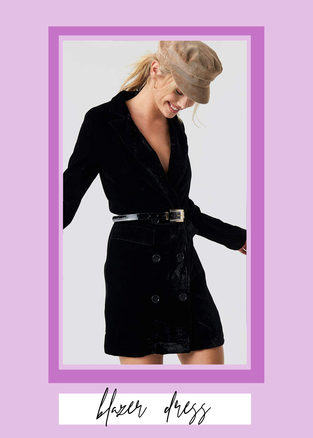 006. - NA-KD Velvet Blazer Dress // $83
