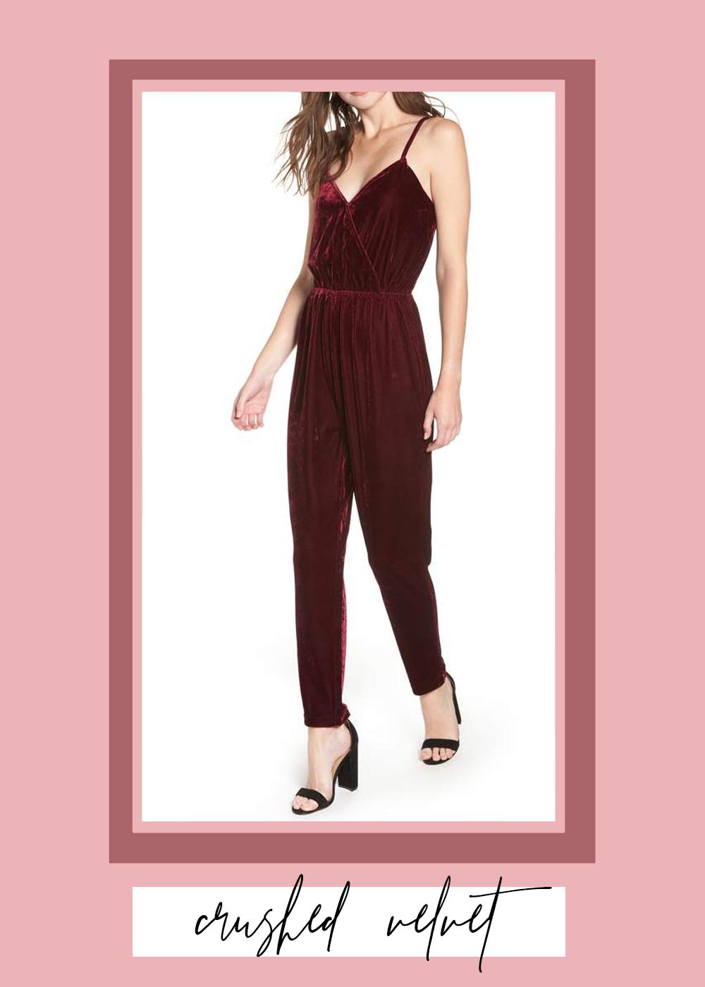 010. - Velvet Jumpsuit // $129