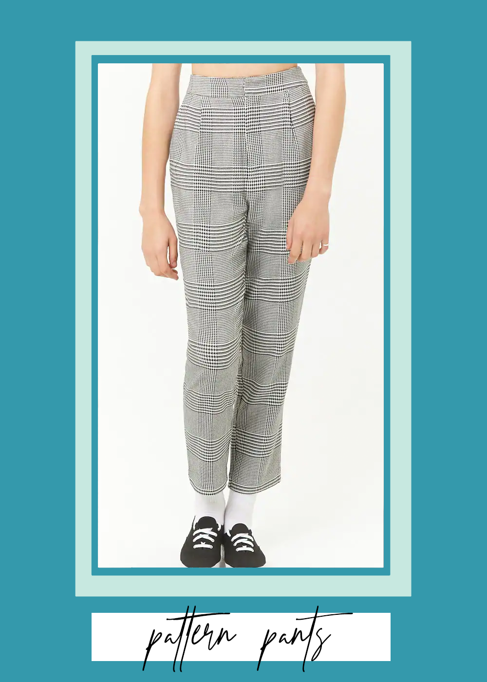 001. - Glen Plaid Pants Forever 21 // $28