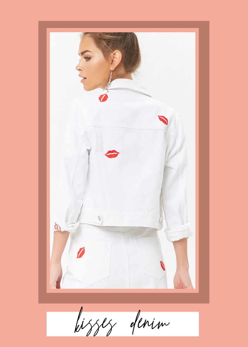 007. - Kiss Embroidered Denim JacketForever 21 // 35