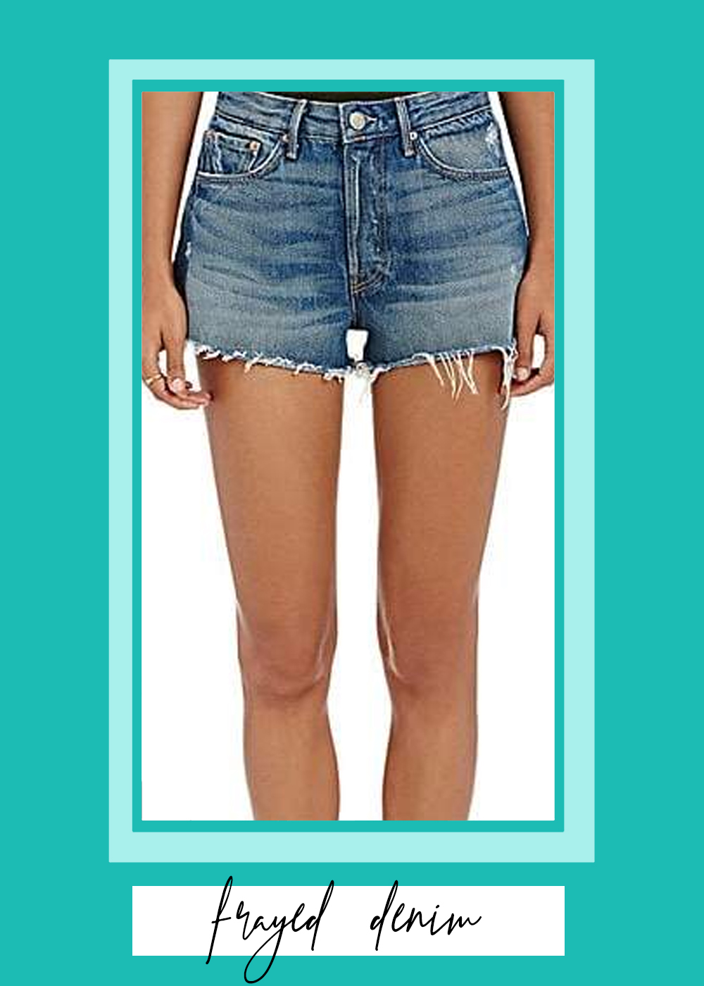 010. - Frayed Denim Shorts // $149