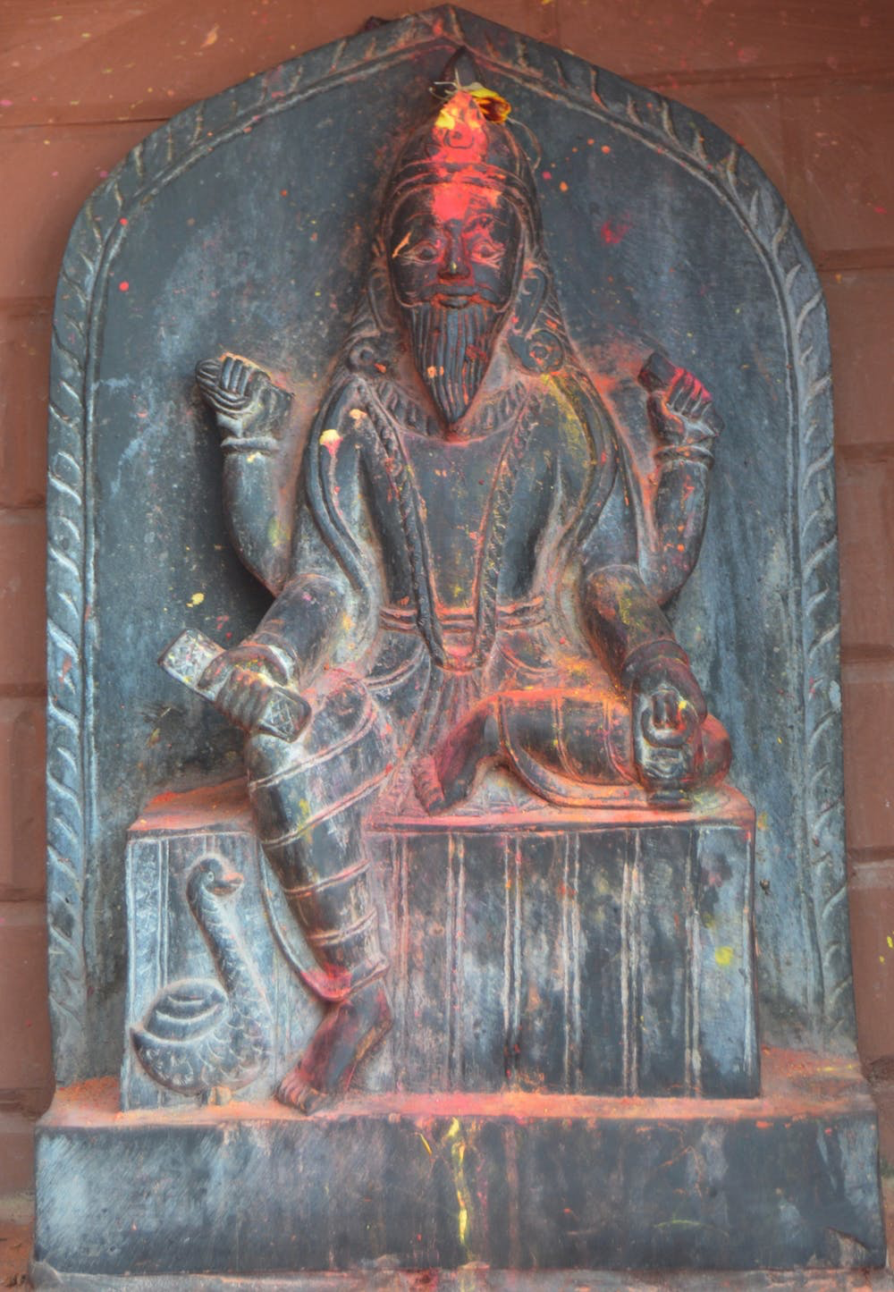 A statue of Visvakarman, the engineer of the universe. Suraj Belbase/Wikimedia Commons , CC BY-SA